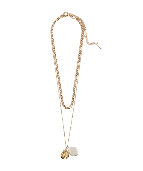 GOLD THICK CHAIN & PEARL NECKLACE PACK