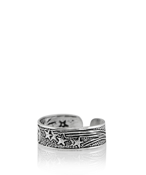 SS STAR & MOON TOE RING