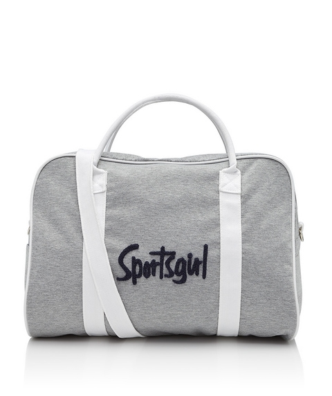 GREY MARLE TERRY LOGO DUFFLE BAG
