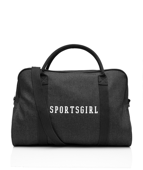 WASHED BLACK DUFFLE BAG