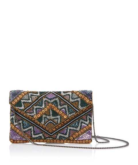 HAILEY BEADED CLUTCH BAG