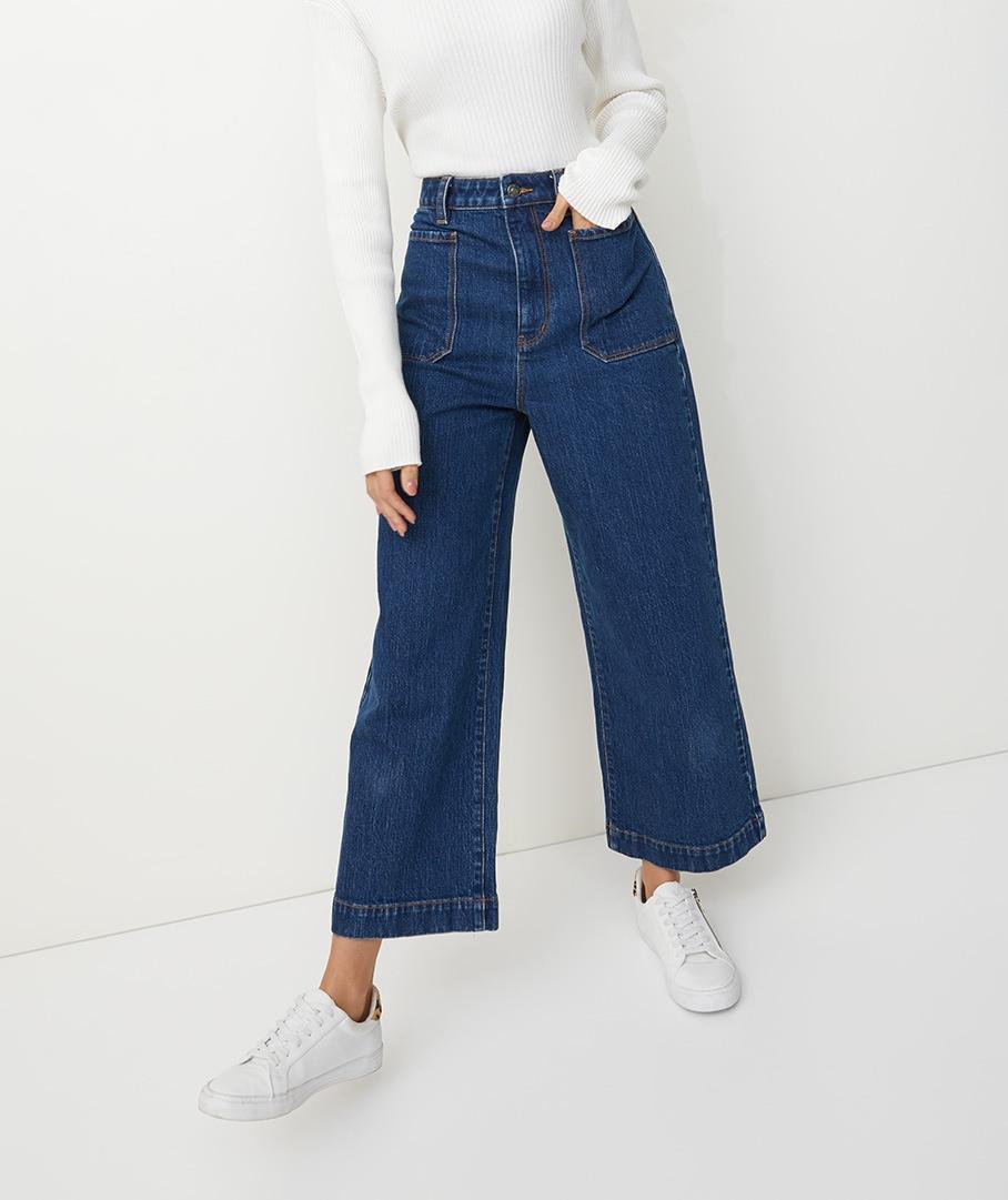 Sportsgirl Women's The Frankie - High Rise Wide Leg Jean   eBay