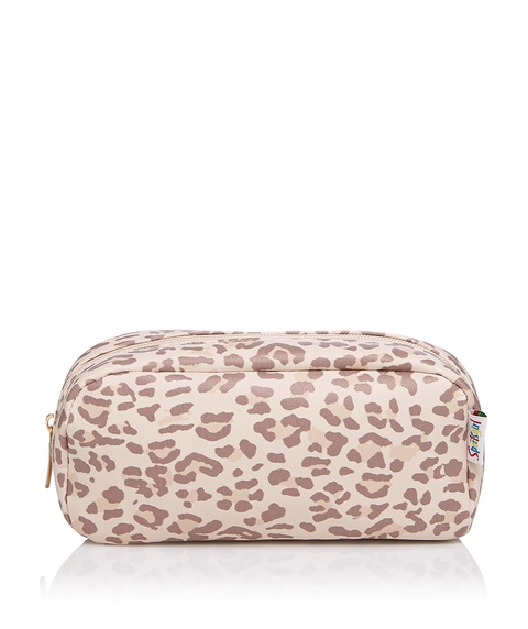LEAH LEOPARD BEAUTY BAG