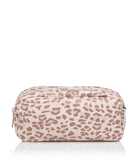 LEAH LEOPARD BEAUTY BAG