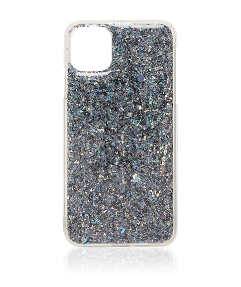 XSM/11PM BLACK GLITTER PHONE CASE