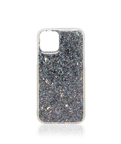 XS/11P BLACK GLITTER PHONE CASE