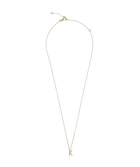 GOLD MINI TEXTURED LETTER NECKLACE