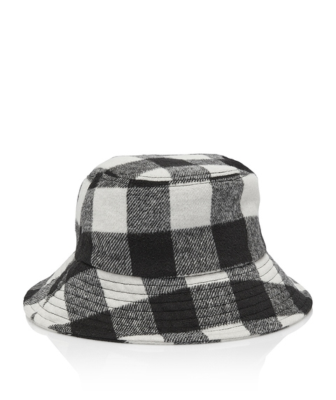 WINTER CHECK BUCKET HAT