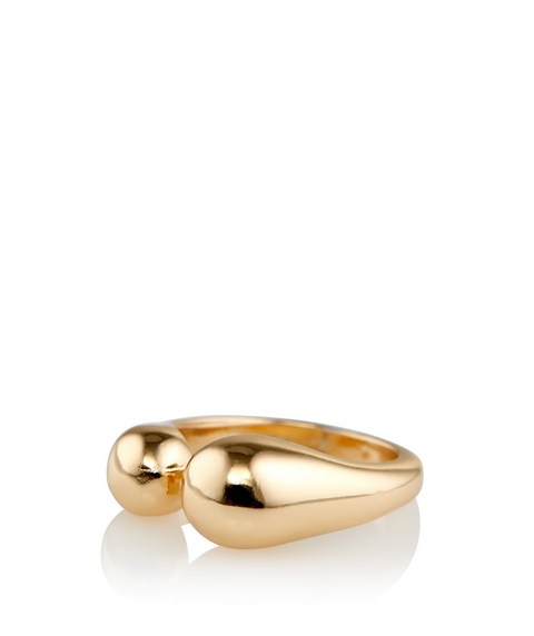 GOLD CHUNKY BALL DETAIL RING
