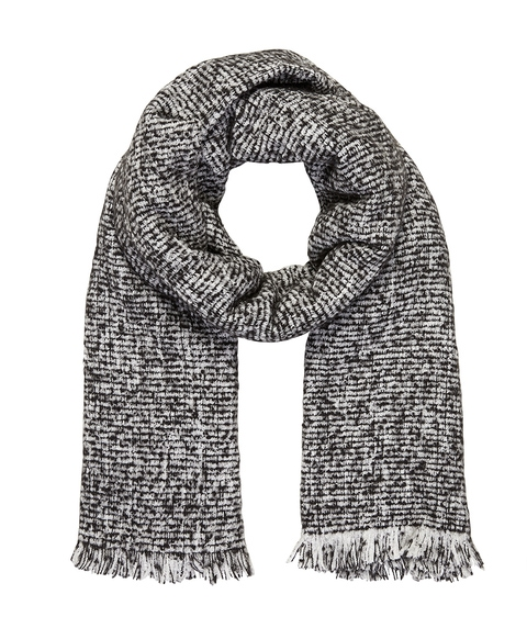 COSY BLACK SPECKLED SCARF