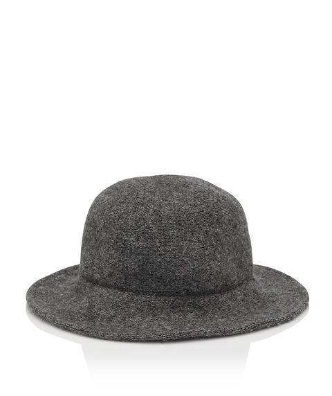 CHARCOAL WINTER BUCKET HAT