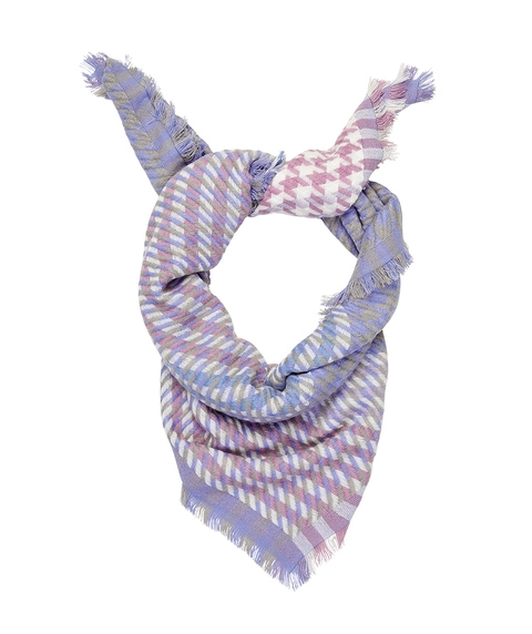 MULTI HOUNDSTOOTH SCARF