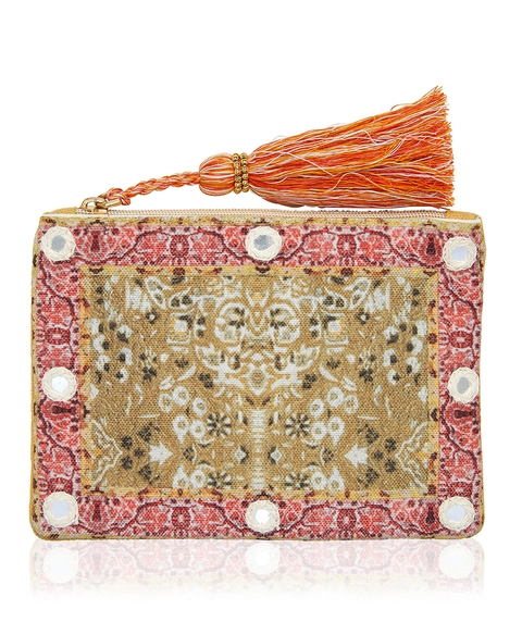 MIRROR AND TASSEL COIN PURSE