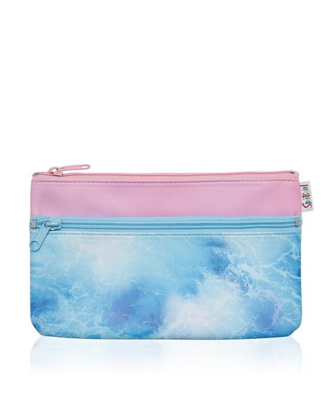 OCEAN DOUBLE ZIPPER BEAUTY BAG
