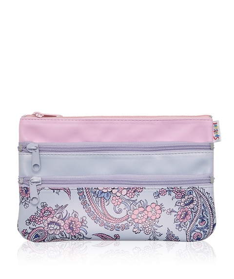 PAISLEY TRIPLE ZIPPER BEAUTY BAG