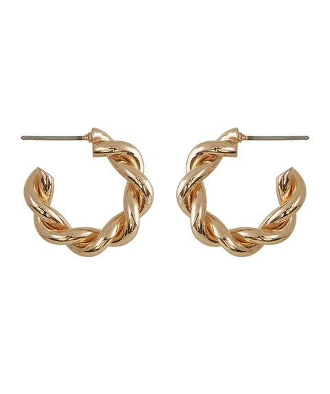 MINI THICK TWISTED HOOP EARRING