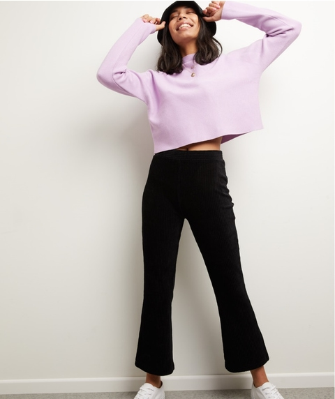 STRETCH CORD FLARE PANTS
