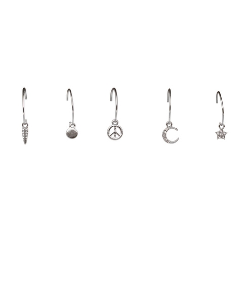 SILVER 90'S CHARM EARRING PACK