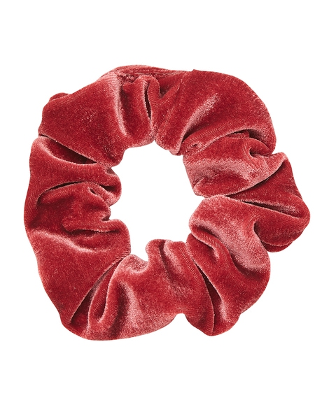 DARK ROSE VELVET SCRUNCHIE
