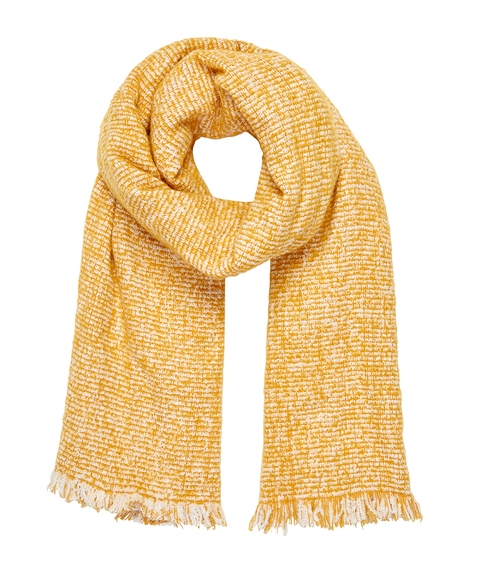 COSY MUSTARD SPECKLED SCARF
