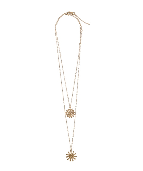 GOLD MEDALLION LAYERED NECKLACE