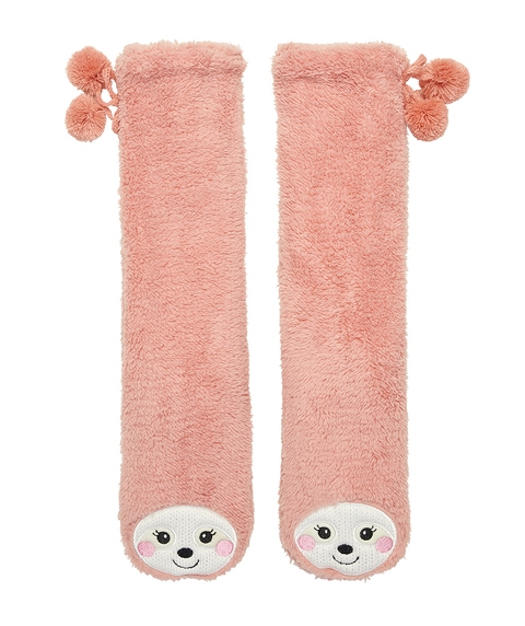 SLOTH TALL SLIPPER SOCK