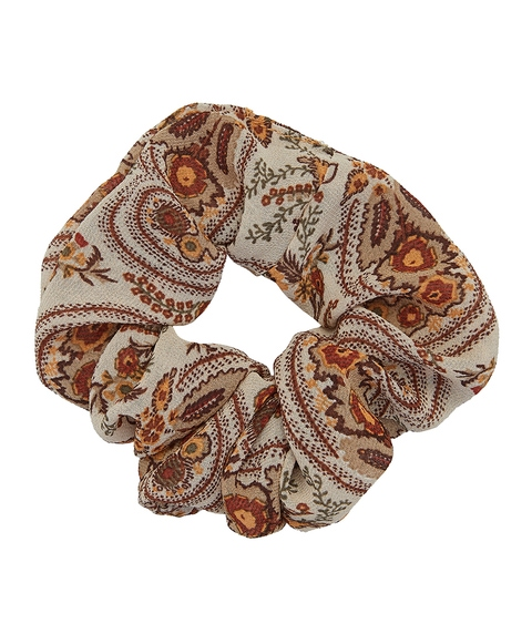BROWN PAISLEY SCRUNCHIE