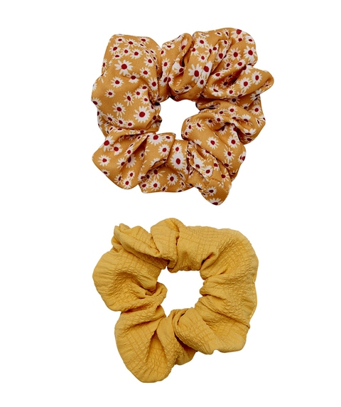 MUSTARD TEXTURED SCRUNCHIE