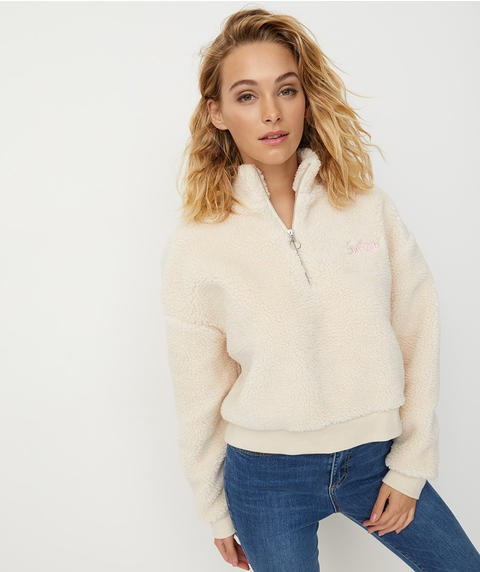 REWIND TEDDY ZIP UP SWEAT