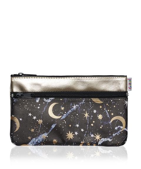 ASTROLOGY DOUBLE ZIPPER BEAUTY BAG