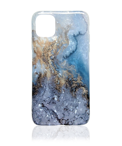 XS MAX/11 PRO MAX BLUE METALLIC MARBLE PHONE CASE