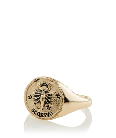 GOLD ZODIAC RING