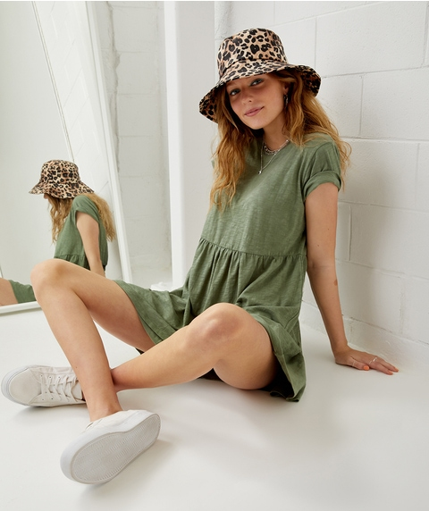 ORGANIC COTTON BABYDOLL TEE DRESS