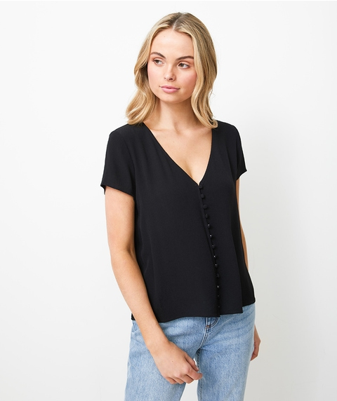 BUTTON THROUGH TEE
