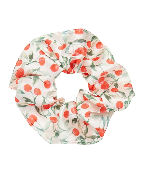 CHERRY PRINT SCRUNCHIE
