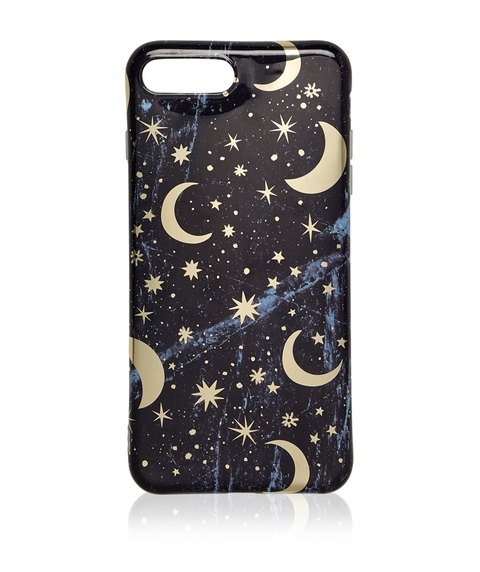 6+/7+/8+ FOIL STAR AND MOON PHONE CASE
