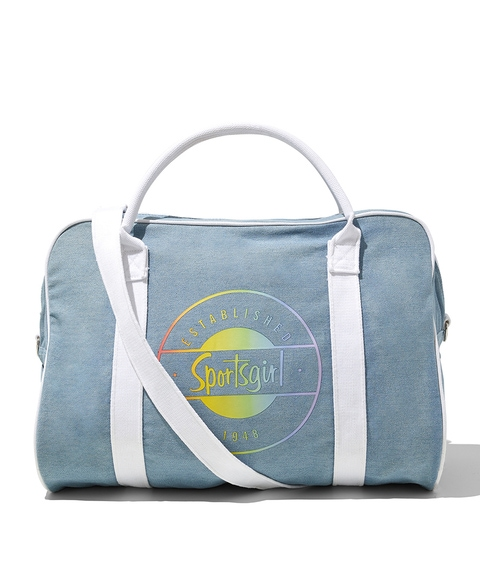DENIM RAINBOW LOGO DUFFLE BAG