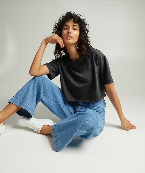 ORGANIC COTTON WASHED CUT OFF TEE