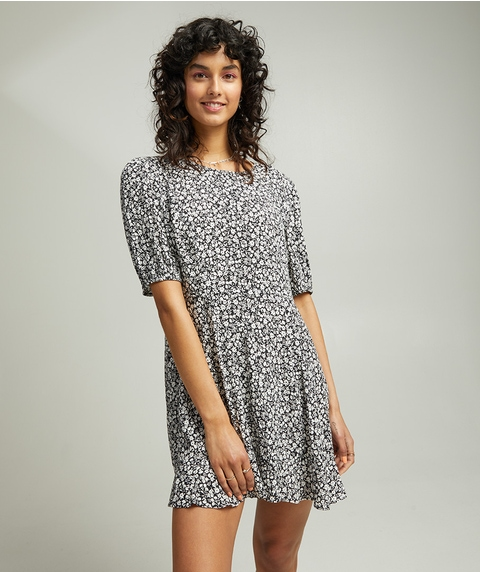 FLIPPY HEM MINI TEA DRESS