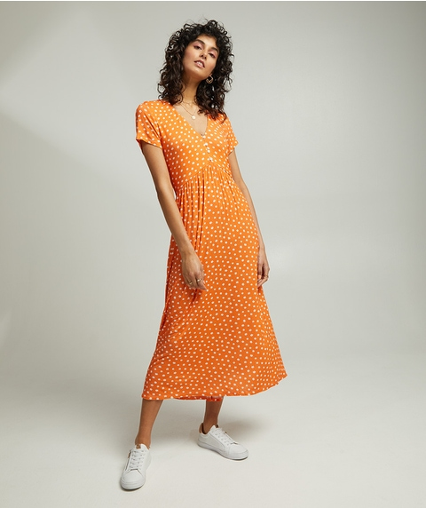 DITSY JERSEY MIDI DRESS