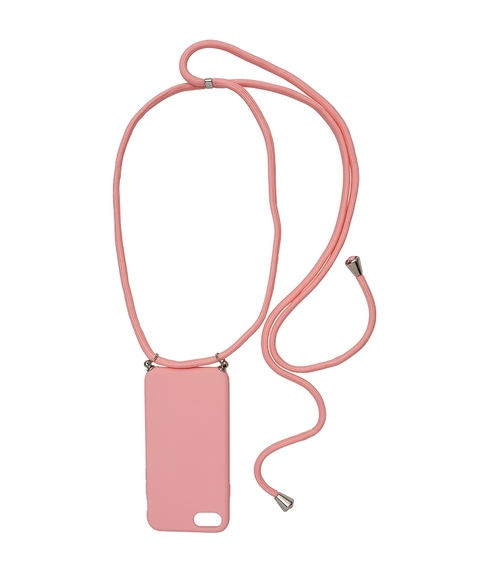 7/8 - PINK PHONE CASE WITH CORD