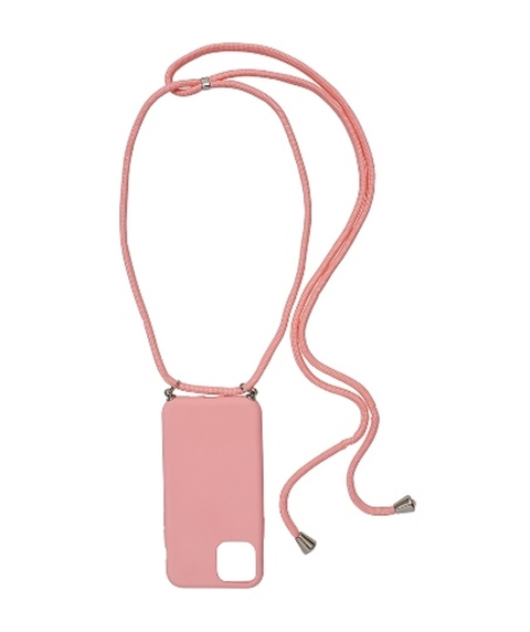 11P - PINK PHONE CASE WITH CORD