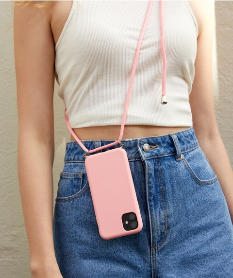 XR/11 - PINK PHONE CASE WITH CORD