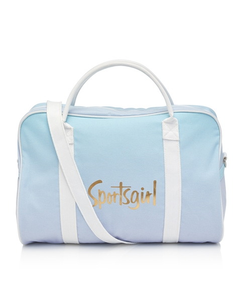 BLUE LILAC OMBRE DUFFLE BAG