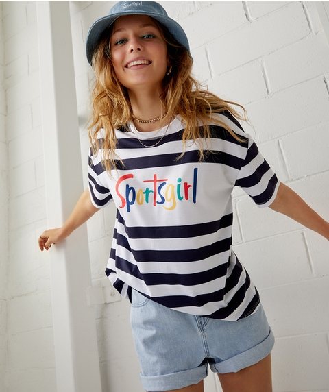 HARVEY STRIPE OVERSIZED TEE