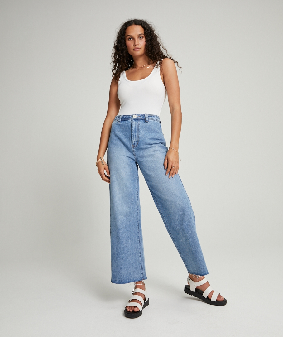 THE HARLOW - HIGH RISE, WIDE LEG JEAN