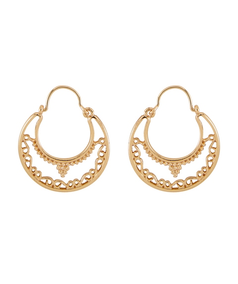 DAINTY BOHO HOOP EARRINGS