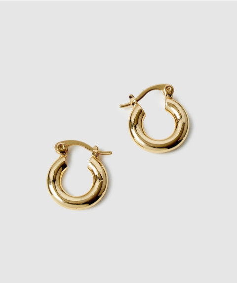 24K GP MINI HOOP EARRINGS