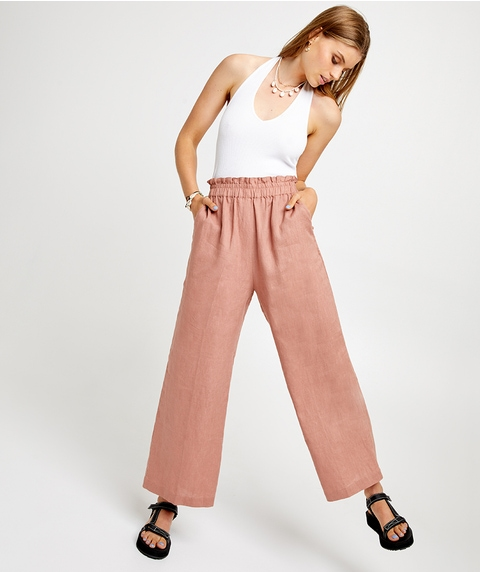 PAPERBAG LINEN PANT
