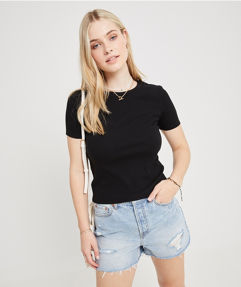 FITTED RIB TEE
